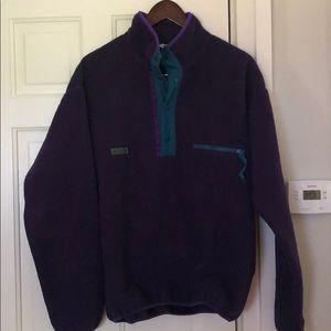Columbia Vintage Fleece Snap Mens Medium
